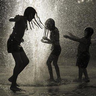shower in rain